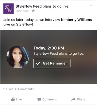 When you schedule a broadcast, Facebook will create a post on your Timeline