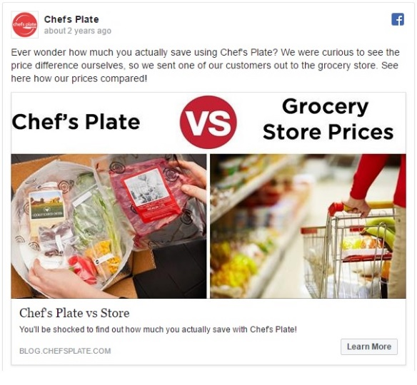 Chef's Plate vs store carousel