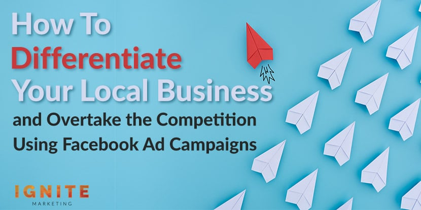 how to differentiate your local business with facebook ads