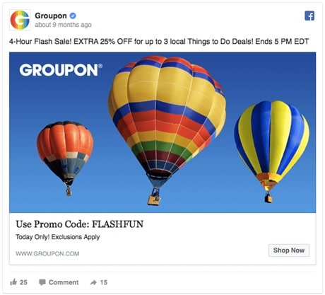 Groupon who offers an additional 25% off their already discounted offers