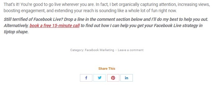 At the end of post add another Call to action