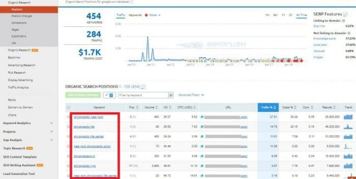 Paid tools like Ahrefs and SpyFu will show you keywords your competitors