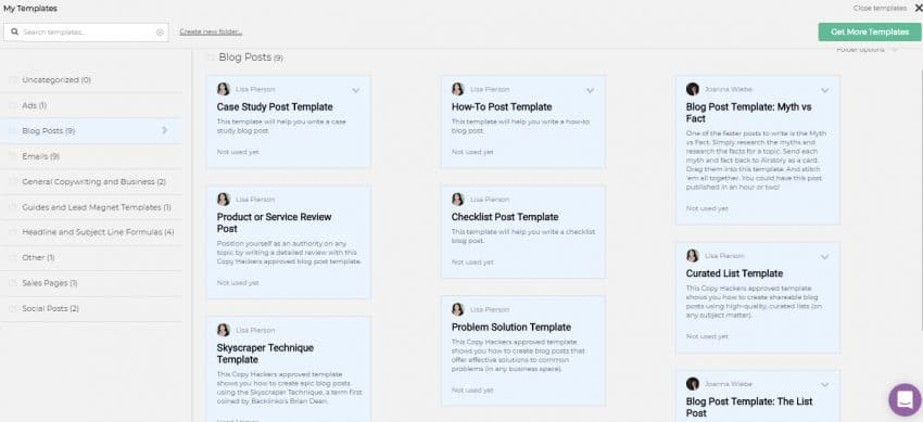 consider using a blog post template by AirStory