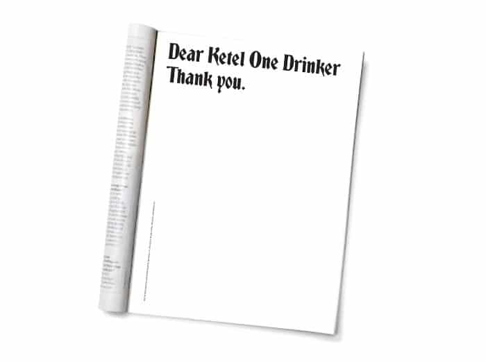 Ketel One's mutual-love-and-respect campaign