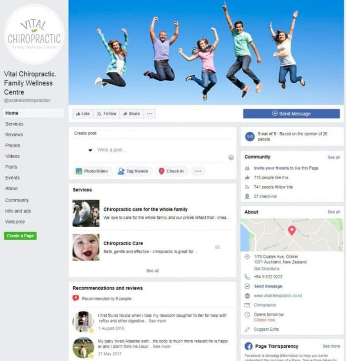 Your Facebook Business Page