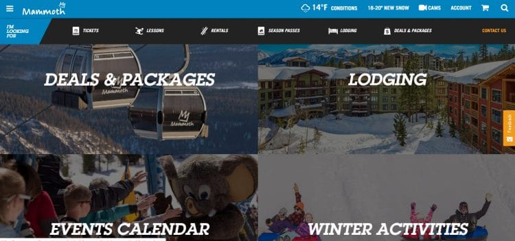 Mammoth Mountain is a ski resort located in Mammoth Lakes, CA.