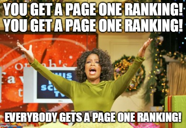 Google Page One Ranking