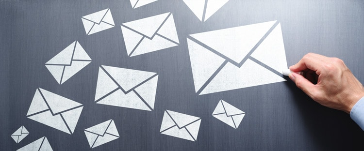 Using email to get in contact.