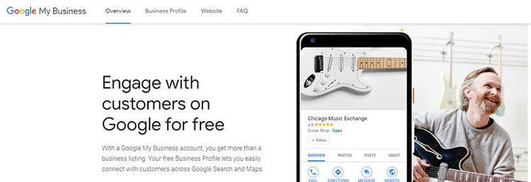 Set up your initial Google My Business account.