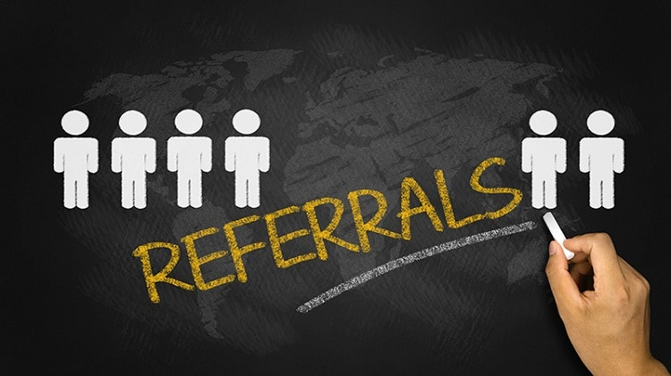 Ask for client referrals.