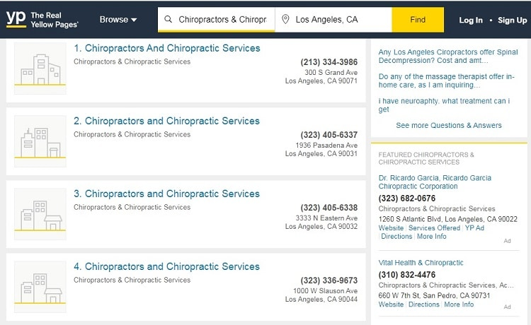Directory listings can help keep the phone ringing.