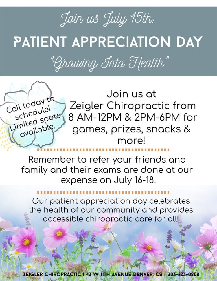 Patient appreciation days.