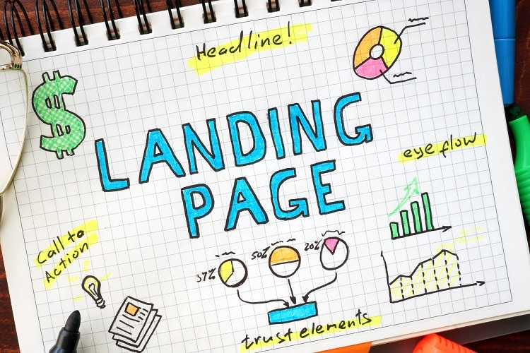 Conversion-focused landing pages.