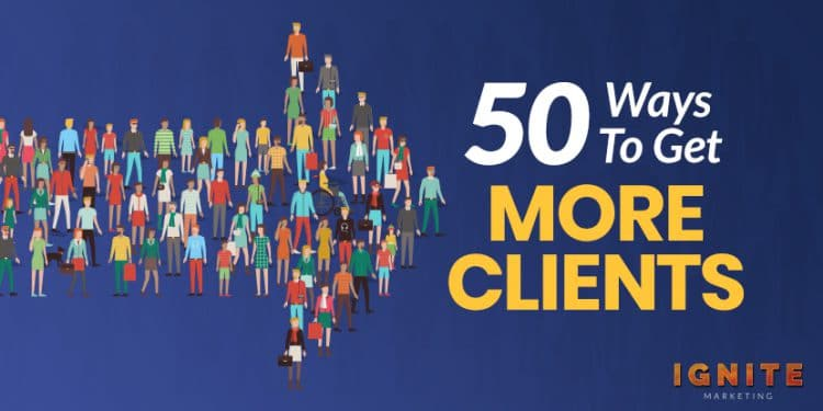 50 Ways to Get More Clients