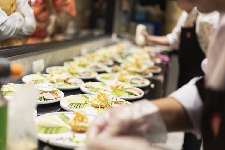 Ask new venues if they need a catering service.