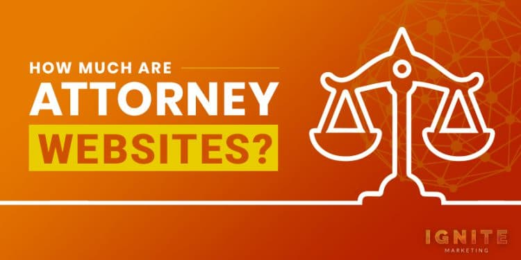 how much are attorney websites