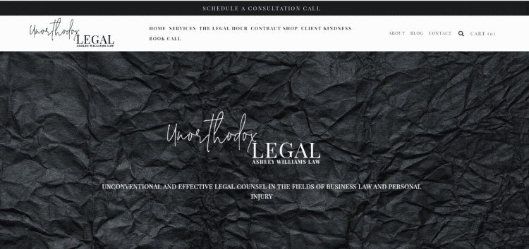 42 Unorthodox Legal Ashley Williams Law