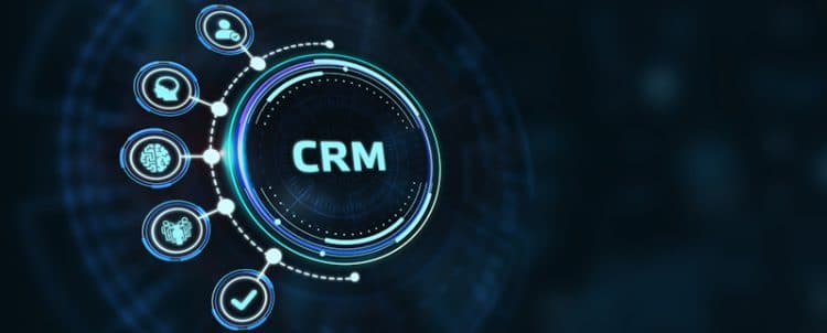 CRM Digital Letters blue background