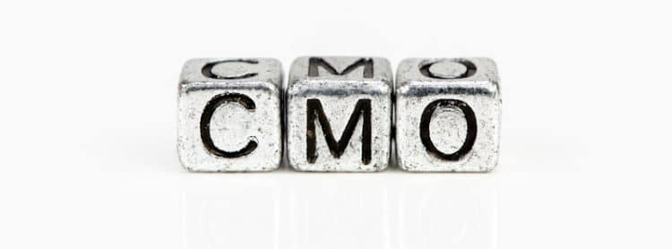 cmo letters made of silver dices