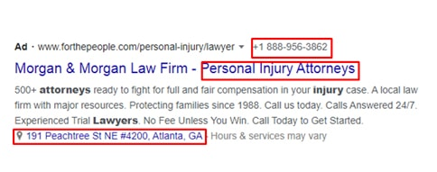 here s the second example of Google ads.