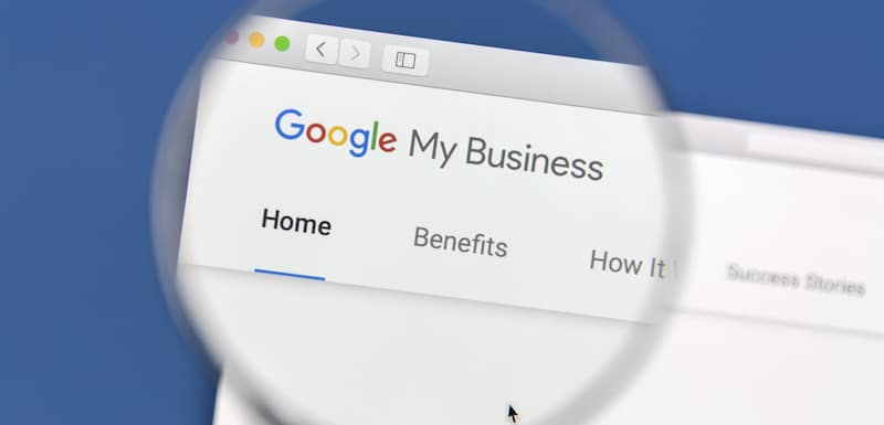 google my business under magnifying glass
