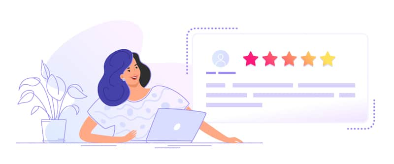 graphic art for customers leaving good reviews