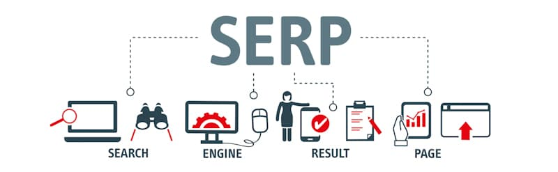 search engine result page graphic art