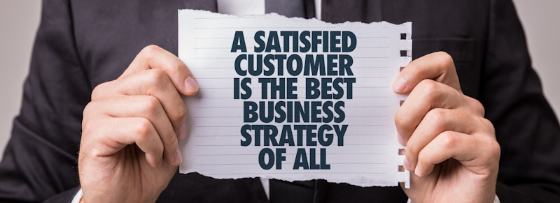 satisfied customer as business strategy quote